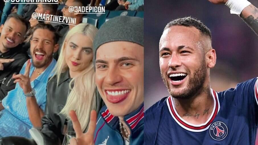Jade Picon assiste jogo de Neymar