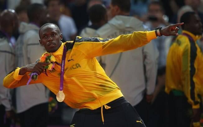 Bolt sai de Londres com três medalhas de ouro, nos 100, nos 200 e no 4 x 100 m
