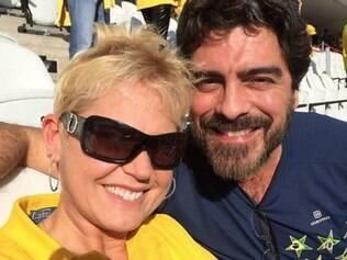 Xuxa e o namorado, Junno, no Itaquerão