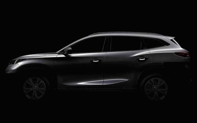 Novo utilitário esportivo da Chery deverá ter sete lugares e linhas elegantes que lembram as do Hyundai Santa Fe