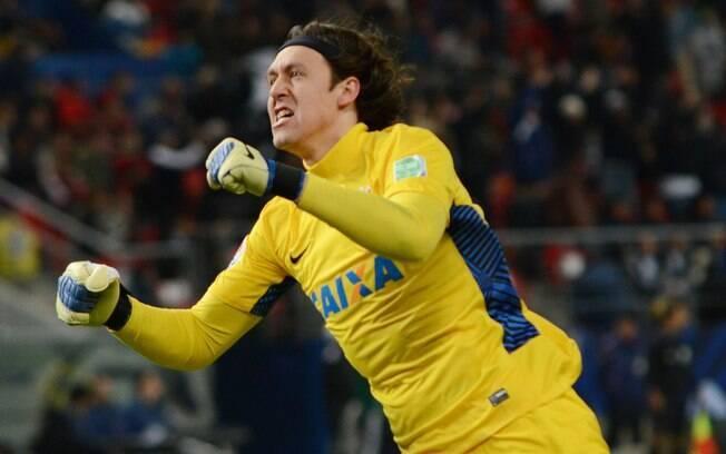 Petr Cássio: antes mesmo da final do Mundial,  goleiro Cássio ganhou apelido da torcida  corintiana em homenagem a Petr Cech, goleiro do  Chelsea