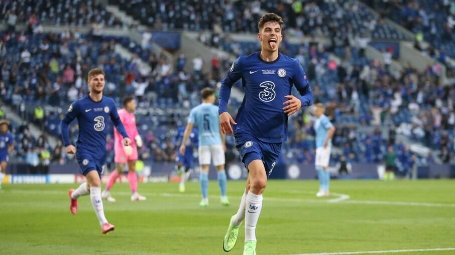Havertz comemora gol do título do Chelsea
