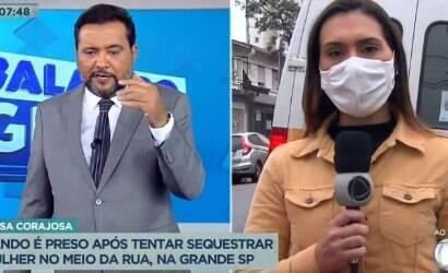 """Geraldo Luís """"salva"""" jornalista da Record de atropelamento"""