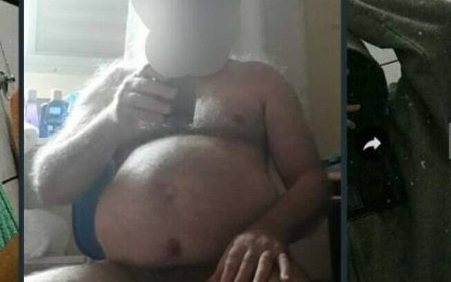 Após ter mandado mensagens fazendo referência ao naturismo, o professor enviou a foto