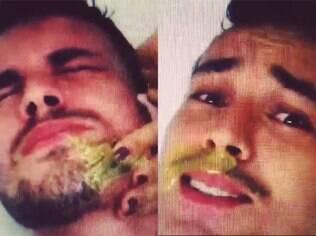 Rodrigo Andrade depila a barba em vídeo