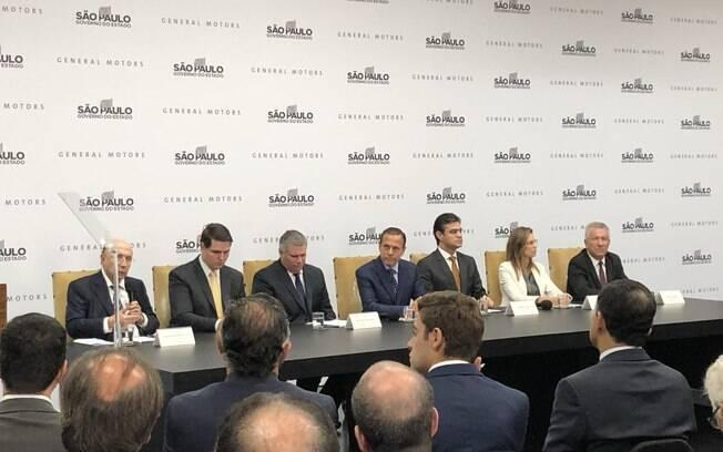 General Motors anunciou novo investimento de R$ 10 bilhões no Palácio dos Bandeirantes, sede do governo