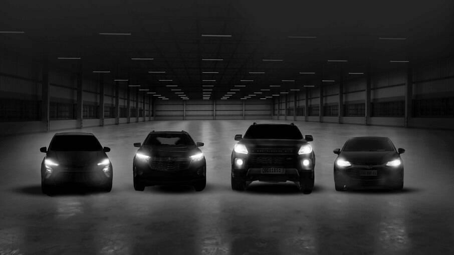 Imagem mostra os quatro lançamentos que a GM terá no Brasil entre setembro e dezembro de 2021