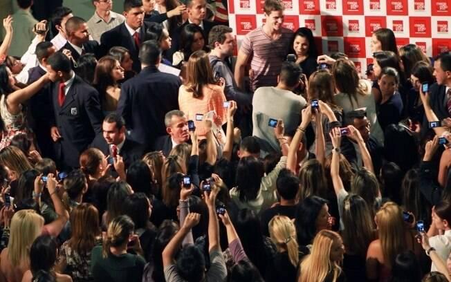 Jonatas Faro parou evento de moda no Brás