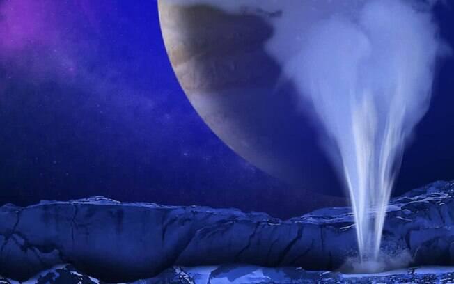 Nasa afirma que jato de água que se desprendeu da superfície de Europa, lua de Júpiter, evidencia possível vida alienígena