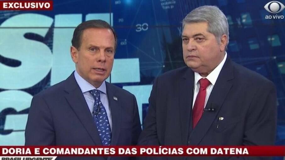 João Doria e Datena