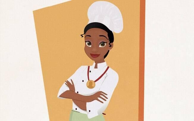 Tiana virou uma renomada chef de cozinha