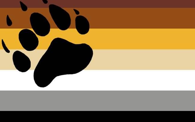 Nada de arco-íris: mais sóbria, a bandeira ursina tem uma simpática pata de urso