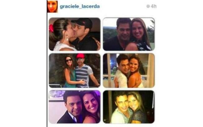 Na época do aniversário de Zezé, a atual namorada expôs o romance nas redes sociais