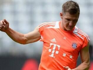 Schweinsteiger acredita em vitória do Bayern diante do Dortmund