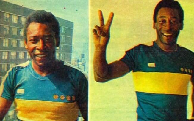Ídolo do Santos, Pelé já vestiu a camisa do Boca Juniors