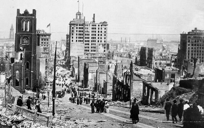 Terremoto em 1906 destruiu completamente a cidade de São Francisco e aumentou drasticamente a falha de San Andreas
