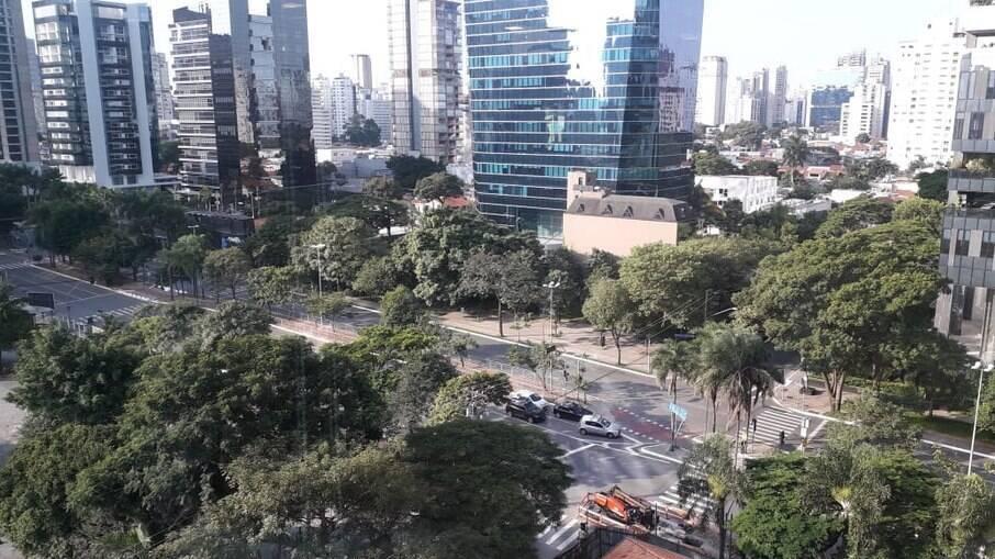 Trecho da Avenida Faria Lima, em São Paulo