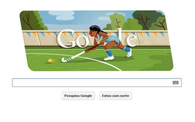 Novo doodle do Google mostra jogadores de hóquei, que antes dos anos 1970 eram tradicionalmente jogados na grama