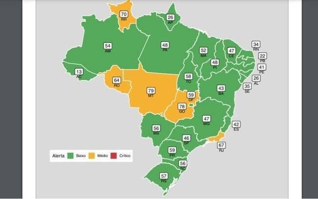 Covid: pela 1ª vez desde outubro, Brasil não tem nenhum Estado em nível crítico de ocupação de leitos