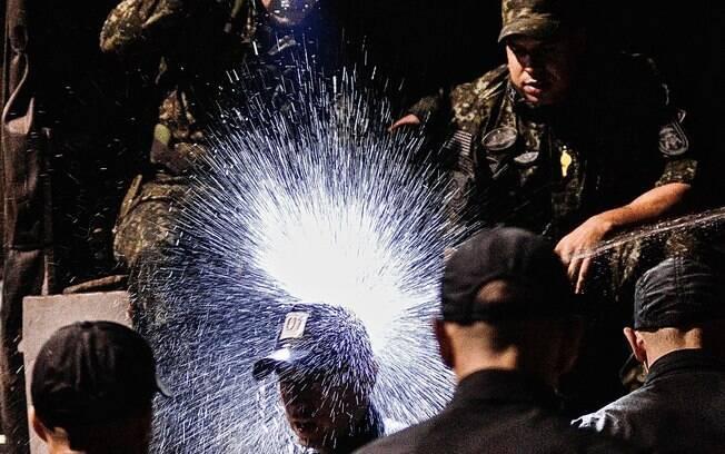 As atividades do curso de formação de Operadores do COE acontecem de dia, de noite, no frio e calor, em ambientes aquáticos e aéreos, em montanhas, selva e ambientes urbanos . Foto: Major PM Luis Augusto Pacheco Ambar