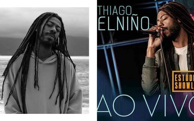 Thiago Elniño, um dos destaques do rap brasileiro, que chamou atenção no cenário principalmente após o lançamento do seu álbum A Rotina do Pombo