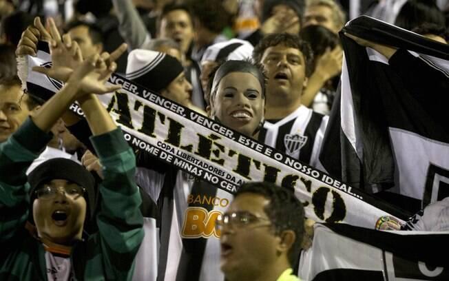 Torcedores do Atlético-MG marcam presença na  Argentina