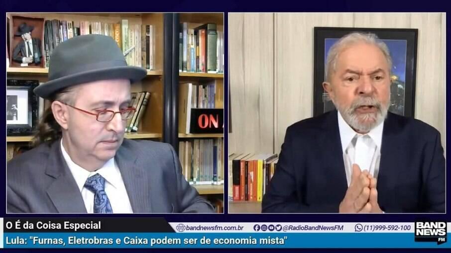 Ex-presidente Lula (PT) concedeu entrevista ao jornalista Reinaldo Azevedo nesta quinta (1)