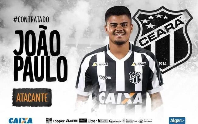 Mercado da bola: Ceará contratou o atacante João Paulo