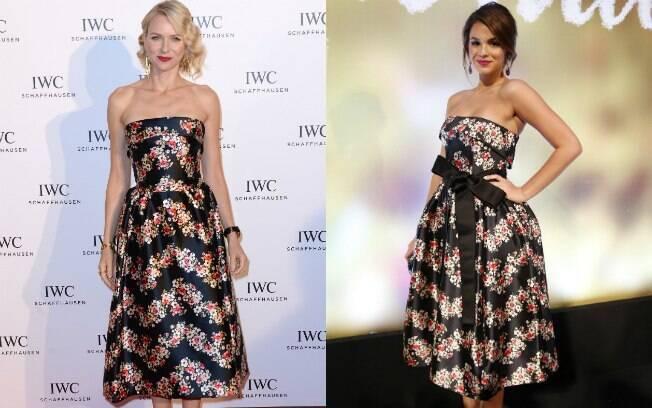 Bruna Marquezine repetiu vestido Dolce & Gabbana usado por Naomi Watts em maio de 2013, durante evento da IWC, na França
