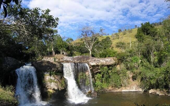 A cachoeira do desterro é um ponto famoso de Cunha e ótimo para se conectar com a natureza
