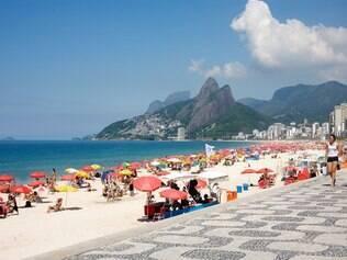A praia de Ipanema é uma das mais badaladas do Rio de Janeiro