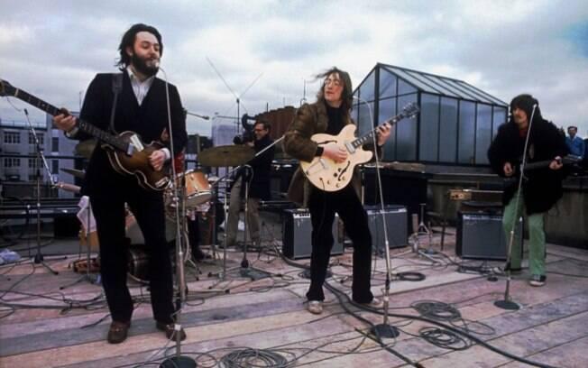 O último show dos Beatles em um telhado de Londres, 1969