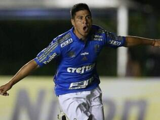 Argentino Cristaldo abriu o marcador a favor do Palmeiras