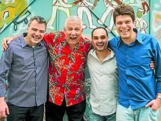 Encontro. Paulo Paulelli, Paquito D' Rivera, Fábio Torres e Edu Ribeiro formam uma parceria talentosa