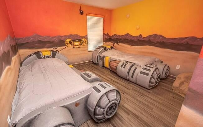 A casa com temática Star Wars fica a 15 minutos do Walt Disney World, em Orlando