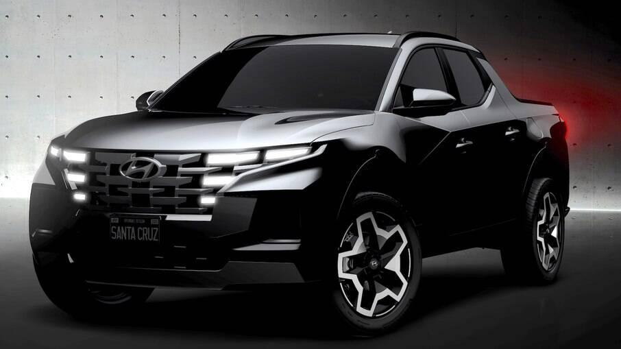 Hyundai Santa Cruz 2022: segue o estilo adotado na nova geração do sedã de luxo Azera da linha 2022