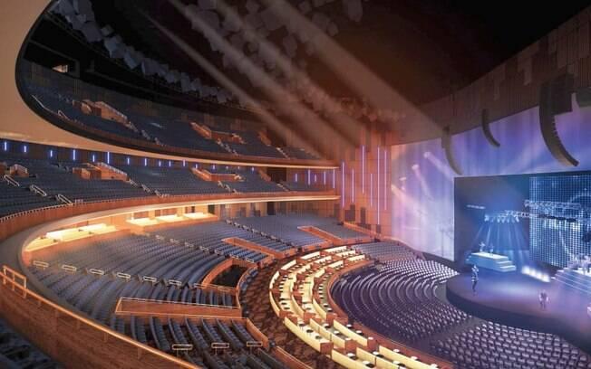 Segundo informações do próprio site do hotel, o custo do auditório foi de US$ 125 milhões (R$ 505 milhões)