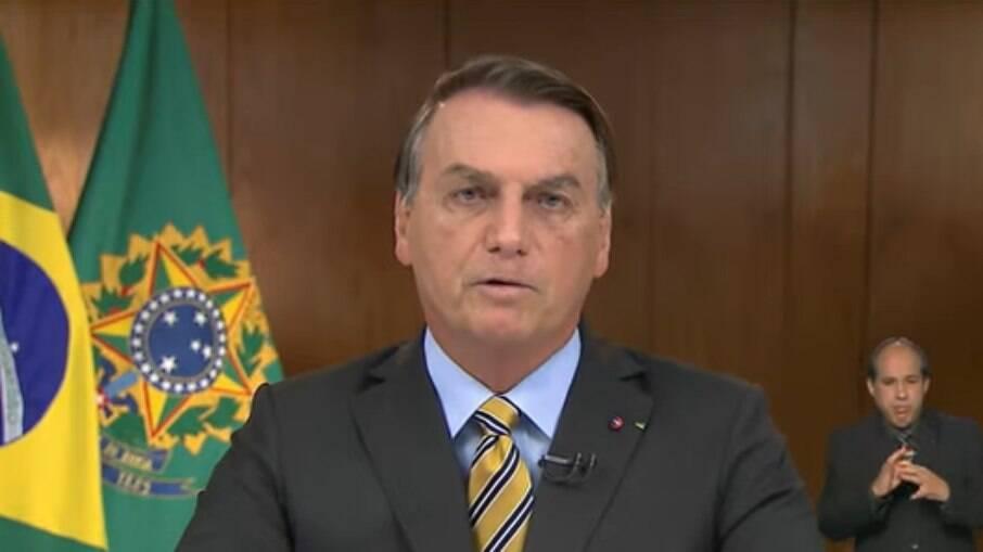 Presidente Jair Bolsonaro se pronunciou em rede nacional nesta quarta-feira 2 de junho