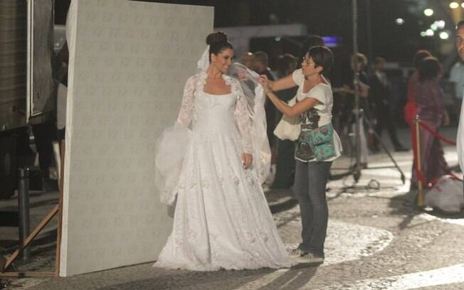 Giovanna Antonelli nas gravações das cenas finais de