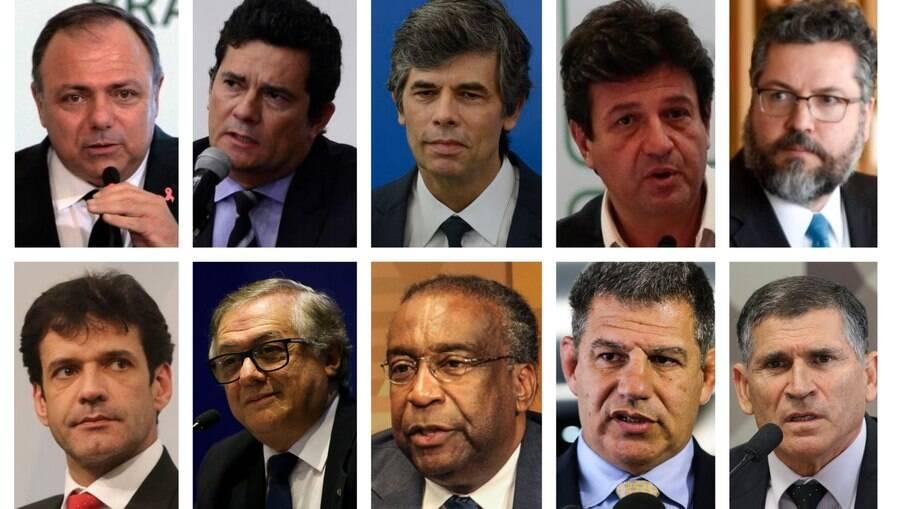 Alguns dos ministros que já deixaram o governo Bolsonaro