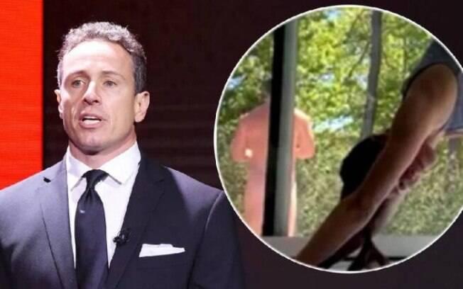 Chris Cuomo apareceu sem roupa em live da esposa