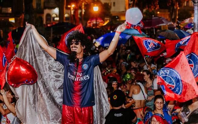 PSG participou de forma oficial do carnaval brasileiro no bloco
