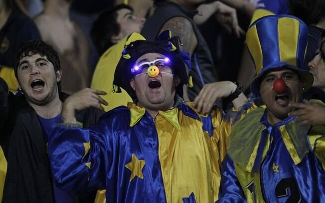 Torcedor do Boca Juniors faz festa antes da  final