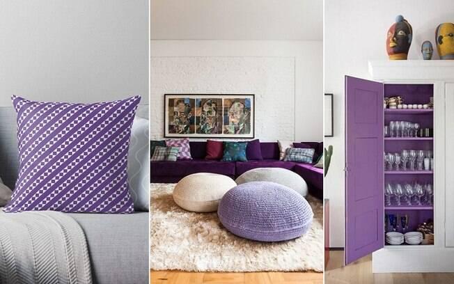 Para quem é mais discreto, o tom fica bem em detalhes, como em almofadas, pufes, tapetes e outros objetos