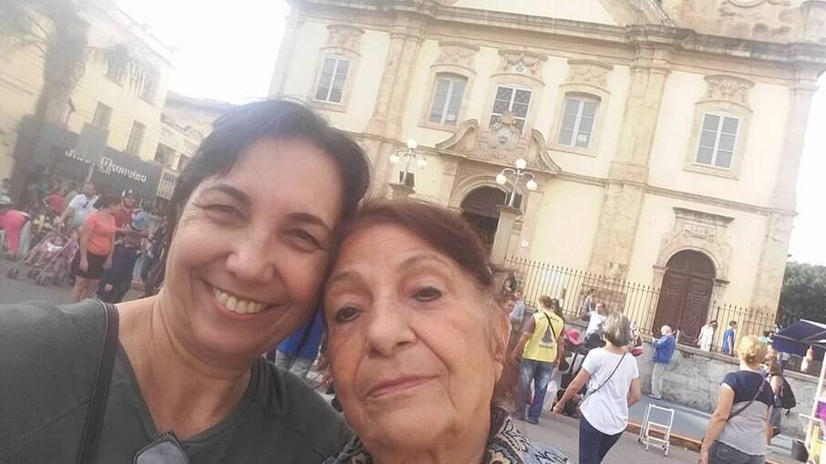 Dona Marlene e a filha, Cristina Boareto, foram à Aparecida pela última vez em 2019