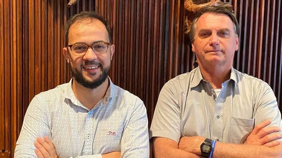 servidor do Ministério da Saúde Luis Ricardo Miranda e o presidente Jair Bolsonaro
