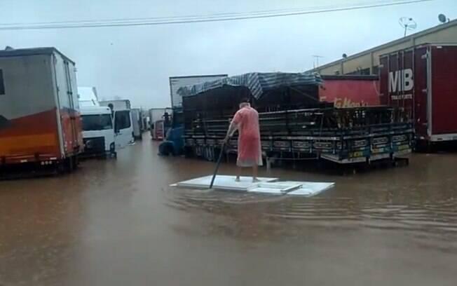Ceagesp alagada em SP nas chuvas do início deste ano