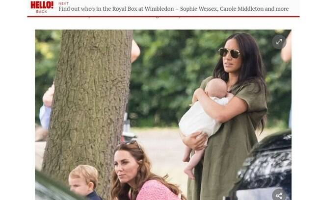 Kate Middleton e Meghan Markle vão a jogo de polo