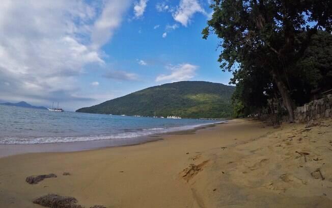 Praia do Presídio, na Ilha Anchieta. Esta é a maior ilha de Ubatuba