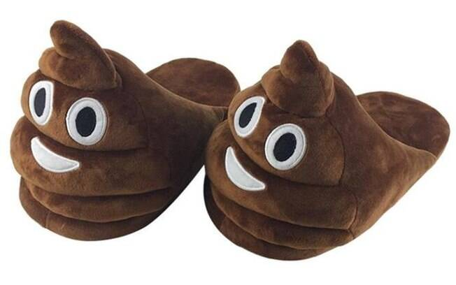 Pantufa do emoji Poop